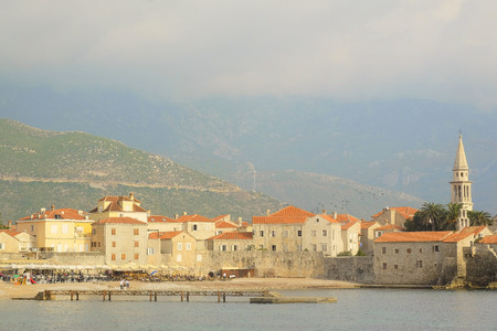 old town: View of Old Town of Budva, Montenegro