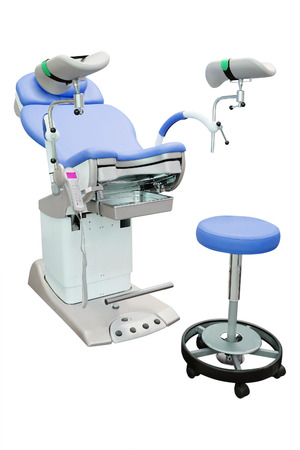 gynecological: gynecological chair under the white background
