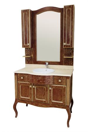 washbowl: luxury wooden washbowl with mirror in bathroom