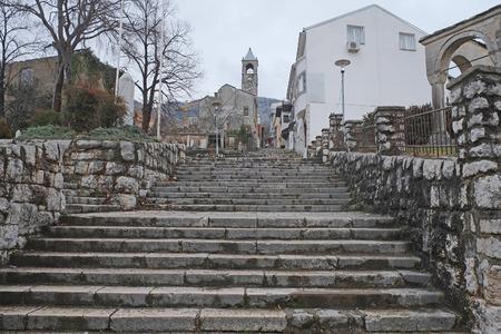 mostar: Bosnia, Mostar, January, 5, 2016: The street of Mostar, Bosnia
