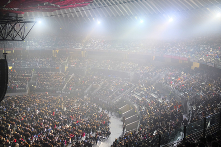 spectator: Roma, Italy, January, 16, 2016: the spectator hall during Il Volo concert in Roma, Italy Editorial