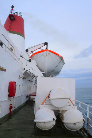 lifeboats: The image of life-boats on a ship
