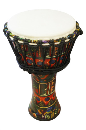 hand jamming: The image of ethnic african drum
