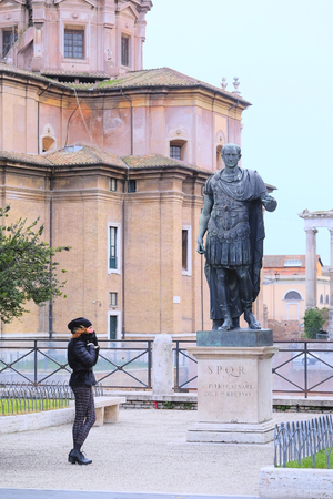 Roma: Roma, Italy, January, 16, 2016: Ancient statue in Roma, Italy