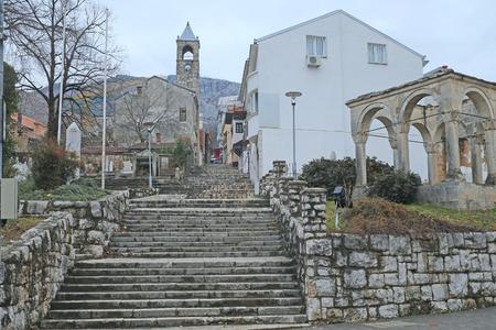Mostar, Bosnia, January, 3, 2016: The streat of Mostar, Bosnia