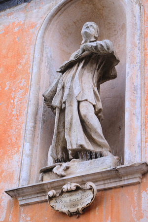 Roma: Statue of S. Bonaventura in Roma, Italy