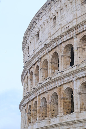 Roma: The image of Coliseum in Roma, Italy Stock Photo