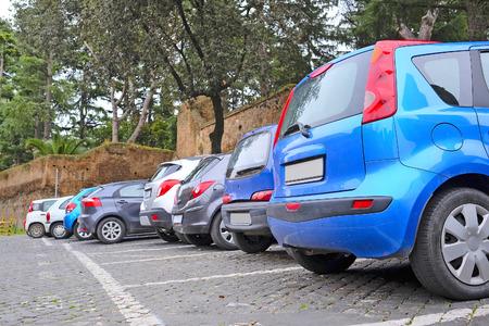 Roma: Roma, Italy, January, 16: car parking in Roma, Italy