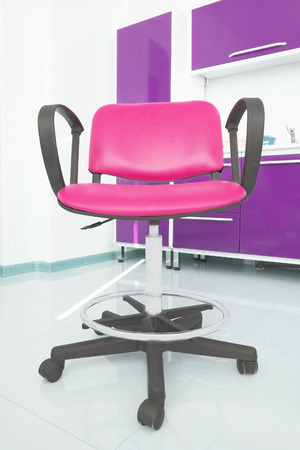 swivel chairs: Blue chair isolated on a white background Stock Photo