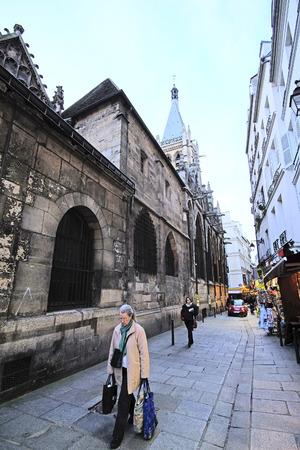 carriageway: Paris, France, February 6, 2016: the image of Paris street, Paris, France