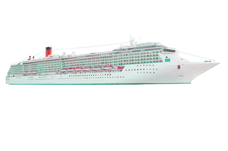 bowsprit: The image of cruise ship under the white background