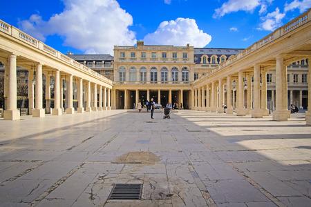 palais: Paris, France - February 11, 2016: Le Palais Royal in the center of Paris, France