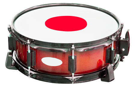 jamming: The image of a drum under a white background Stock Photo