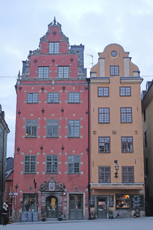 inhabited: Stockholm, Sweden - March, 16, 2016: multystoried inhabited buildings in Stockholm, Sweden Stock Photo