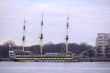 sailer: Sailboat on Neva in Saint-Petersburg