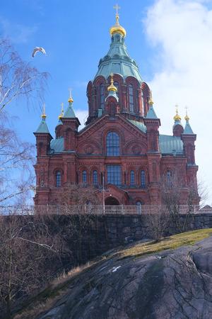 helsinki: Helsinki, Finland - March, 14, 2016: Catholic cathedral in Helsinki, Finland