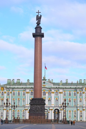 hermitage: St. Petersburg, Russia - March, 13, 2016: The building of Hermitage and Winter Palace in St. Petersburg, Russia