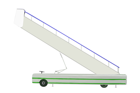 movable: The image of a movable boarding ramp under the white background