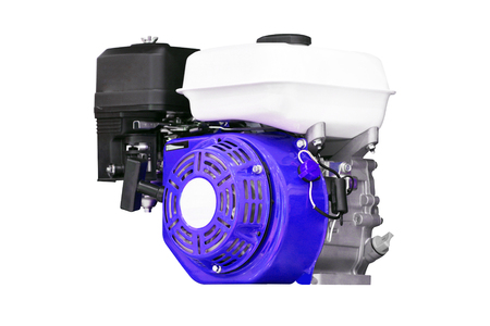 supercharger: engine under the white background Stock Photo