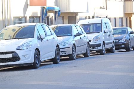 scandinavian peninsula: Stockholm, Sweden - March, 16, 2016: cars on a parking in Stockholm, Sweden