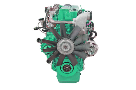 supercharger: The image of an engine isolated under the white background Stock Photo