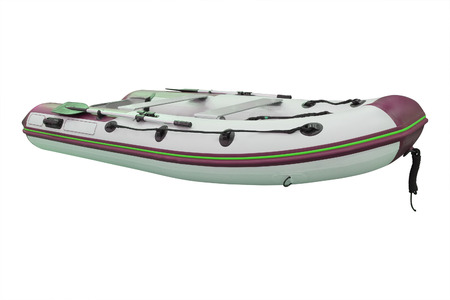 inflatable boat: Inflatable boat under the white background