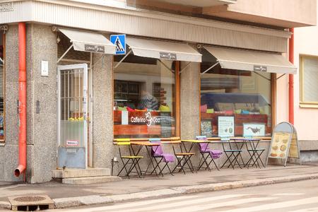 helsinki: Helsinki, Finland - April, 4, 2016: street cafe in Helsinki, Finland Editorial