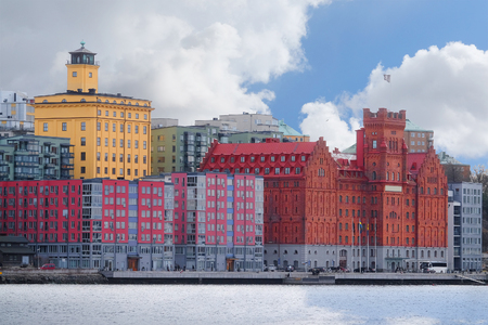 inhabited: multystoried inhabited buildings in Stockholm, Sweden