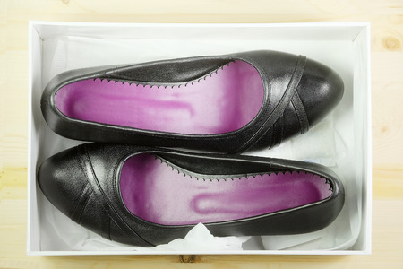 doublet: The image of black shoes