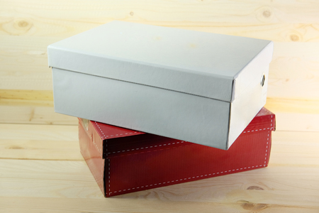 dyad: The image of shoe boxes Stock Photo