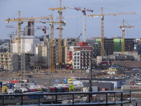 scandinavian peninsula: Helsinki, Finland - March, 14, 2016: veiw of construction in Helsinki, Finland