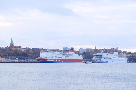 scandinavian peninsula: Cruise ship in Stockholm, Sweden