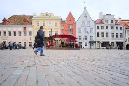 estonia: Tallin, Estonia - April, 6, 2016: old town of Tallin, Estonia Editorial