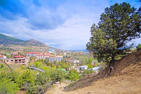 sudak: panorama of Sudak in the Crimea
