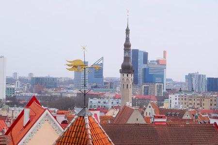 tallin: old town of Tallin, Estonia Stock Photo