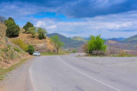 rockclimbing: Mountain road in East Crimea