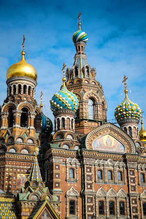 piter: church of savior on Spilled Blood in St. Petersburg, Russia Stock Photo