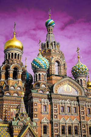 piter: church of savior on Spilled Blood in St. Petersburg, Russia Editorial