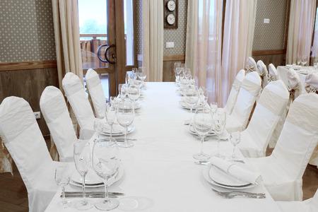 banquet facilities: Banquet facilities served table Editorial