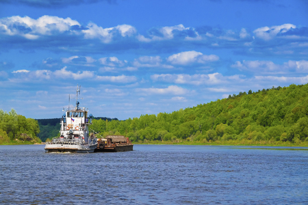 ail: Landscape with the image of russian midland in summer