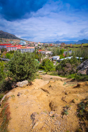 sudak: Sudak, the Crimea - April, 2016: panorama of Sudak in the Crimea