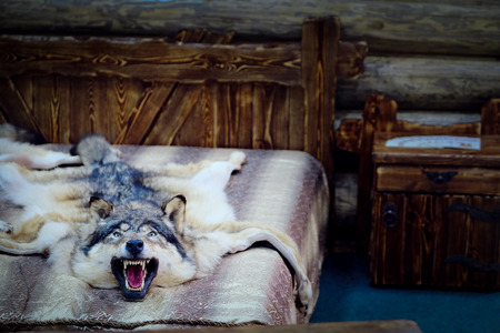 fell: Wolf fell as a bedcover