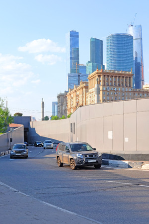 highroad: Moscow, Russia - May, 11, 2016:  tonnel on the Third Ring (Tretiye Koltso) highway in a center of  Moscow, Russia