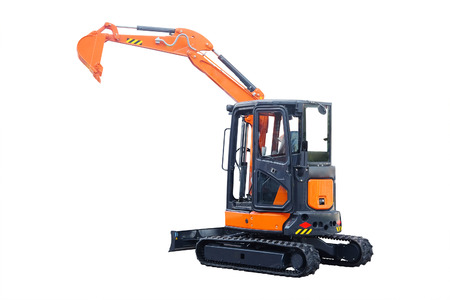 The image of an excavator Imagens