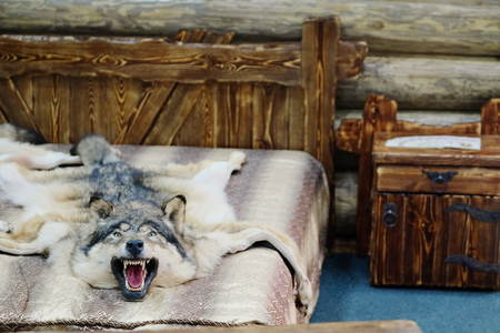 bedcover: Wolf fell as a bedcover