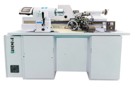 automated tooling: The image of a lathe