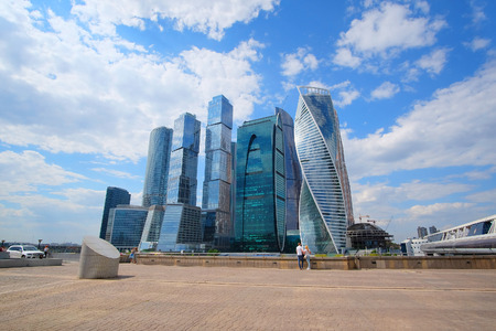 veiw: Moscow, Russia - May, 11, 2016: Veiw od skyscrapes of Moscow City, Russia Editorial