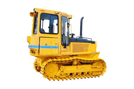 bulldozer under the white background Stock Photo