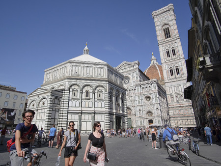 castel: Florence, Italy, June, 25, 2016: cathedral of Santa Maria del Fiore in Florence, Italy