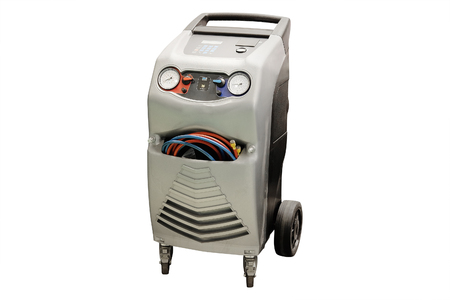 calibrate: The device for air-conditioner check under the white background Stock Photo